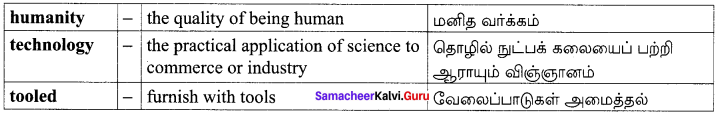 The Secret Of The Machines Poem Samacheer Kalvi 10th English Solutions Chapter 5