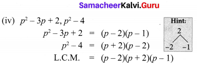 10th Maths Exercise 3.2 1st Sum Samacheer Kalvi Chapter 3 Algebra