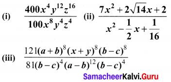 10th Maths Exercise 3.7 Samacheer Kalvi Chapter 3 Algebra Samacheer Kalvi