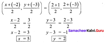 10 Maths Exercise 5.2 Chapter 5 Coordinate Geometry Samacheer Kalvi