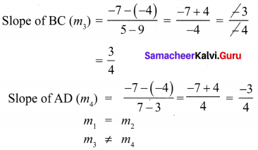 10th Maths Chapter 5 Exercise 5.2 Coordinate Geometry Samacheer Kalvi