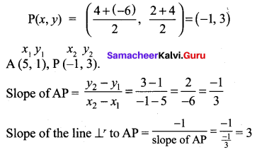 Exercise 5.2 Class 10 Samacheer Kalvi Chapter 5 Coordinate Geometry