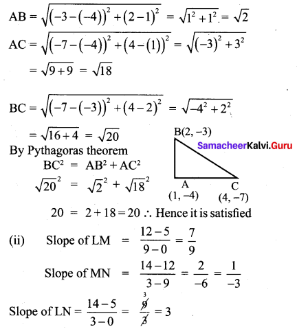 10th Maths Coordinate Geometry Exercise 5.2 Chapter 5 Coordinate Geometry