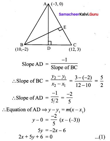 Exercise 5.4 Class 10 Chapter 5 Coordinate Geometry Samacheer Kalvi