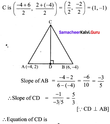 Exercise 5.4 Maths Class 10 Samacheer Kalvi Chapter 5 Coordinate Geometry