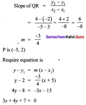 Ex 5.4 Class 10 Chapter 5 Maths Coordinate Geometry Samacheer Kalvi