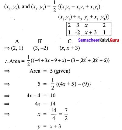 Samacheer Kalvi 10th Maths Chapter 5 Coordinate Geometry Unit Exercise 5 3