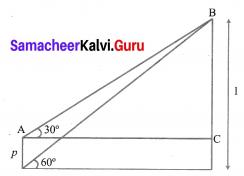10th Math Exercise 6.2 Solutions Chapter 6 Trigonometry Samacheer Kalvi