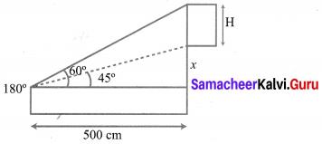 10th Maths Exercise 6.2 Solutions Chapter 6 Trigonometry Samacheer Kalvi