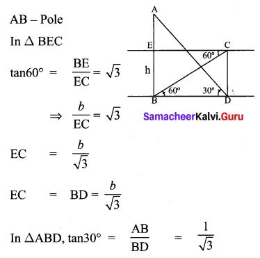 Samacheer Kalvi 10th Maths Chapter 6 Trigonometry Ex 6.5 61