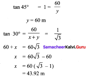 Samacheer Kalvi 10th Maths Chapter 6 Trigonometry Ex 6.5 63