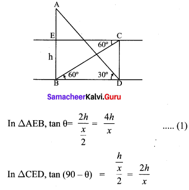 Samacheer Kalvi 10th Maths Chapter 6 Trigonometry Ex 6.5 71