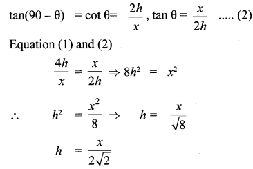 Samacheer Kalvi 10th Maths Chapter 6 Trigonometry Ex 6.5 72
