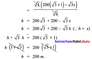 Samacheer Kalvi 10th Maths Chapter 6 Trigonometry Unit Exercise 6 16
