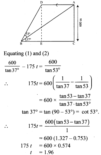 Samacheer Kalvi 10th Maths Chapter 6 Trigonometry Unit Exercise 6 50