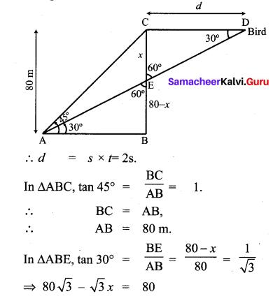 Samacheer Kalvi 10th Maths Chapter 6 Trigonometry Unit Exercise 6 9