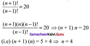 11th Maths Chapter 4 Exercise 4.1 Combinatorics And Mathematical Induction Samacheer Kalvi