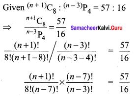 Class 11 Samacheer Kalvi Maths Solutions Chapter 4 Combinatorics And Mathematical Induction Ex 4.3