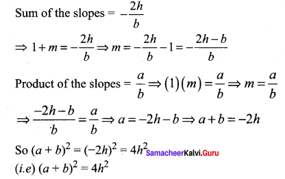 Samacheer Kalvi 11th Maths Solutions Chapter 6 Two Dimensional Analytical Geometry Ex 6.4 56
