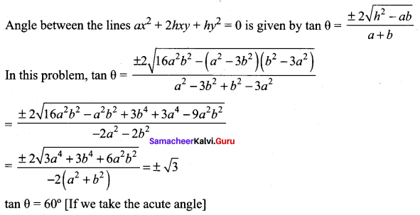 Samacheer Kalvi 11th Maths Solutions Chapter 6 Two Dimensional Analytical Geometry Ex 6.4 58