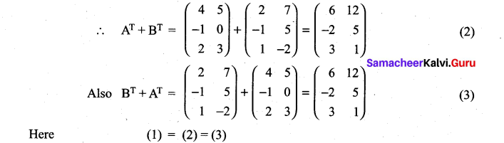 Samacheer Kalvi 11th Maths Solutions Chapter 7 Matrices and Determinants Ex 7.1 34