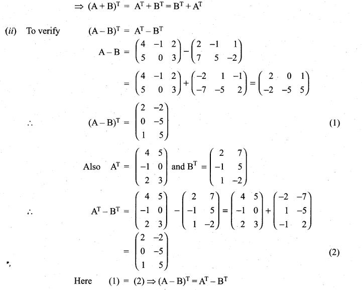 Samacheer Kalvi 11th Maths Solutions Chapter 7 Matrices and Determinants Ex 7.1 35