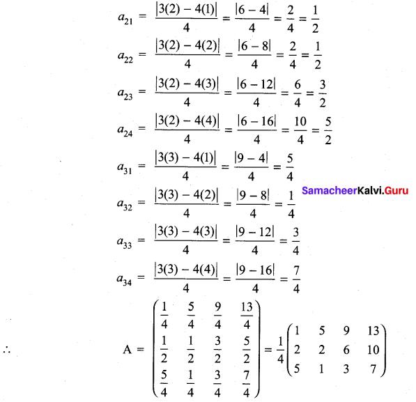 11th Maths 7.1 Exercise Samacheer Kalvi Chapter 7 Matrices And Determinants