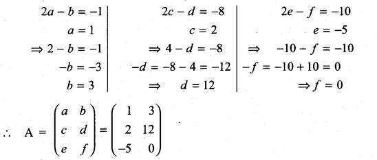 Samacheer Kalvi 11th Maths Solutions Chapter 7 Matrices and Determinants Ex 7.1 43