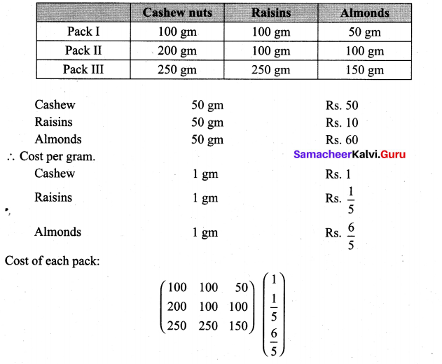 Samacheer Kalvi 11th Maths Solutions Chapter 7 Matrices and Determinants Ex 7.1 50
