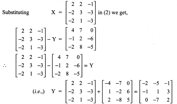 Samacheer Kalvi 11th Maths Solutions Chapter 7 Matrices and Determinants Ex 7.1 64