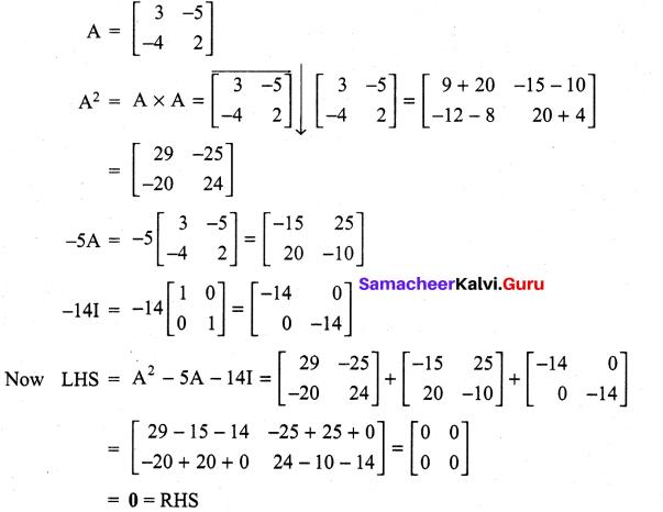 Samacheer Kalvi 11th Maths Solutions Chapter 7 Matrices and Determinants Ex 7.1 66
