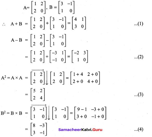 Samacheer Kalvi 11th Maths Solutions Chapter 7 Matrices and Determinants Ex 7.1 72