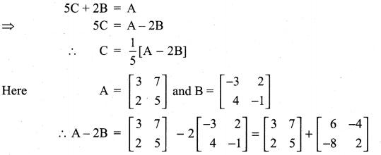 Samacheer Kalvi 11th Maths Solutions Chapter 7 Matrices and Determinants Ex 7.1 77