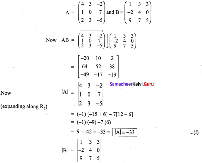Samacheer Kalvi 11th Maths Solutions Chapter 7 Matrices and Determinants Ex 7.2 41