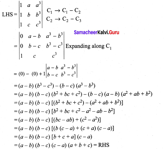 Samacheer Kalvi 11th Maths Solutions Chapter 7 Matrices and Determinants Ex 7.2 63