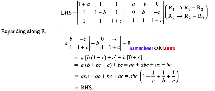 11th Maths Matrix Solutions Samacheer Kalvi Chapter 7 Matrices And Determinants Ex 7.2