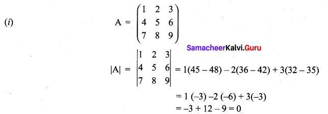 Samacheer Kalvi 11th Maths Solutions Chapter 7 Matrices and Determinants Ex 7.4 5