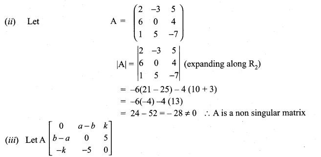 Samacheer Kalvi 11th Maths Solutions Chapter 7 Matrices and Determinants Ex 7.4 6