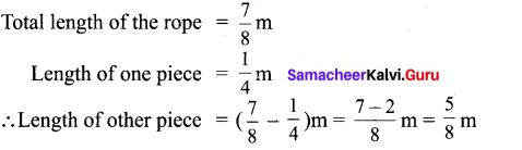 Samacheer Kalvi 6th Maths Solutions Term 3 Chapter 1 Fractions Additional Questions 5