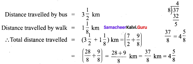Samacheer Kalvi 6th Maths Solutions Term 3 Chapter 1 Fractions Additional Questions 6