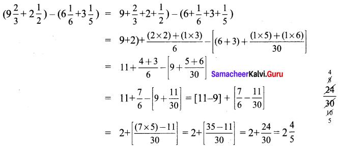 Samacheer Kalvi 6th Maths Solutions Term 3 Chapter 1 Fractions Intext Questions 28
