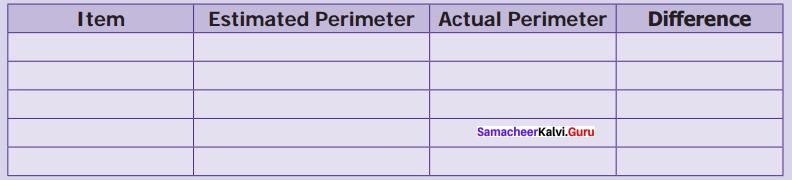 Samacheer Kalvi 6th Maths Solutions Term 3 Chapter 3 Perimeter and Area Intext Questions 6