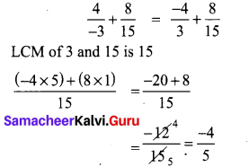 Samacheer Kalvi 8th Maths Term 1 Chapter 1 Rational Numbers Additional Questions 5