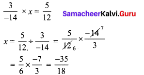 Samacheer Kalvi 8th Maths Term 1 Chapter 1 Rational Numbers Additional Questions 7