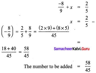 8th Maths Guide Samacheer Kalvi Term 1 Chapter 1 Rational Numbers Ex 1.1