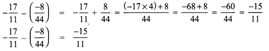 8th Maths Book Answer Samacheer Kalvi Term 1 Chapter 1 Rational Numbers Ex 1.1