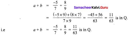 Samacheer Kalvi 8th Maths Term 1 Chapter 1 Rational Numbers Ex 1.2 1