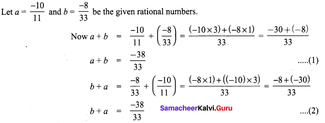 Samacheer Kalvi 8th Maths Term 1 Chapter 1 Rational Numbers Ex 1.2 5