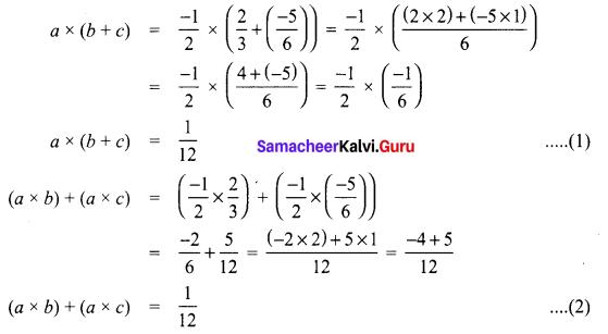 Samacheer Kalvi 8th Maths Term 1 Chapter 1 Rational Numbers Ex 1.2 7