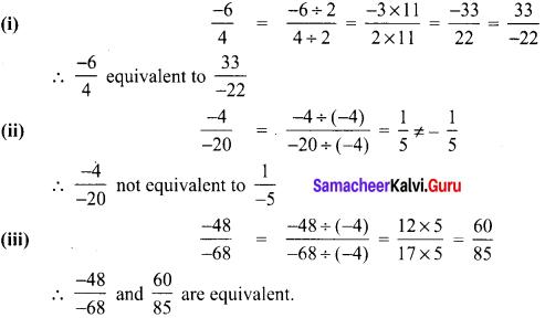 Samacheer Kalvi 8th Maths Term 1 Chapter 1 Rational Numbers Intext Questions 4